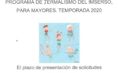 Programa de Termalismo del Imserso, para mayores está abierto. Temporada 2020